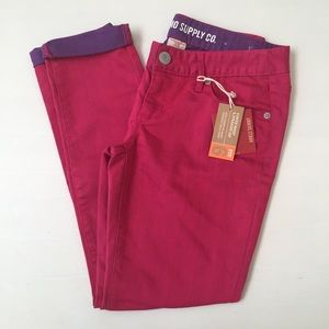 Mossimo skinny dark pink ankle jeans NWT